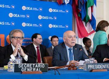 Luis Almagro: la lucha por la libertad y la democracia es lo que mueve a la OEA