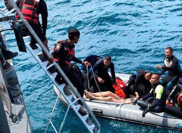 33 personas murieron y 23 está desaparecidos tras dos naufragios en Tailandia