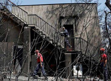 Cifra de muertos por incendios en Grecia se elevó a 85
