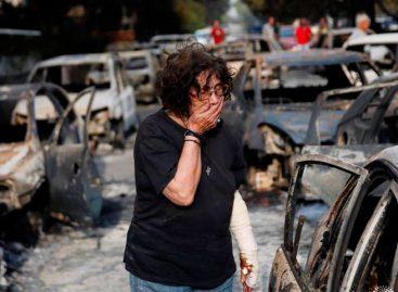 Tsipras decretó 3 días de luto tras incendios masivos en Grecia