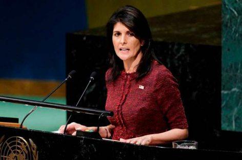 Nikki Haley liderará delegación de EEUU para investidura de Iván Duque