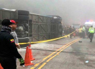 12 aficionados del Barcelona de Ecuador fallecieron en accidente de tránsito