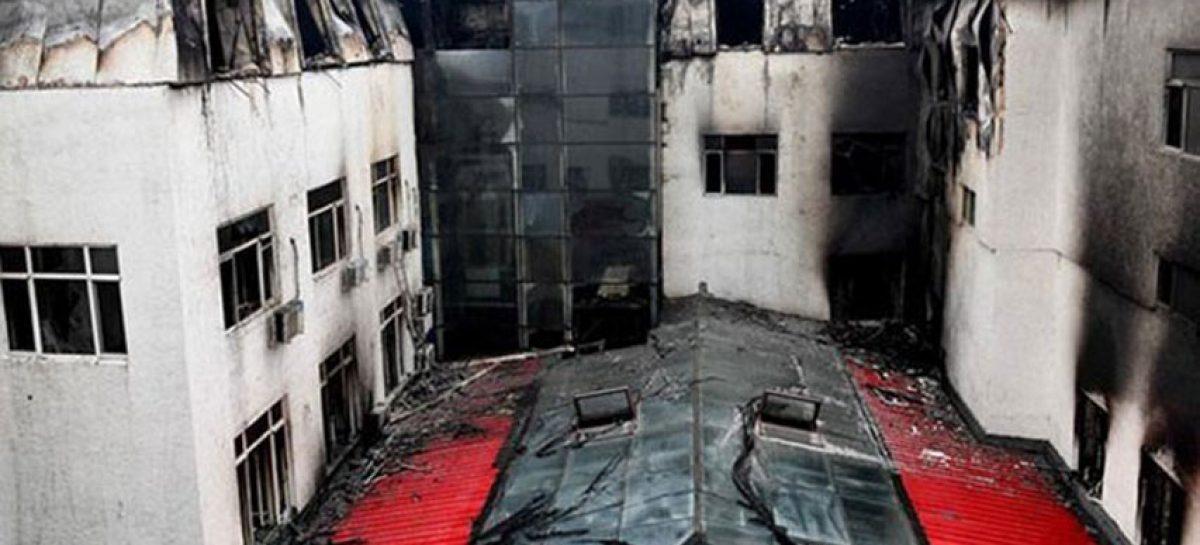 Al menos 18 muertos tras un incendio en hotel de China