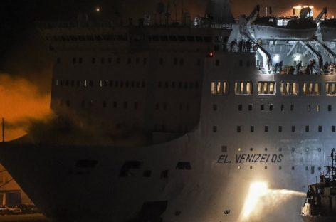 Un incendio causó pánico en ferry griego