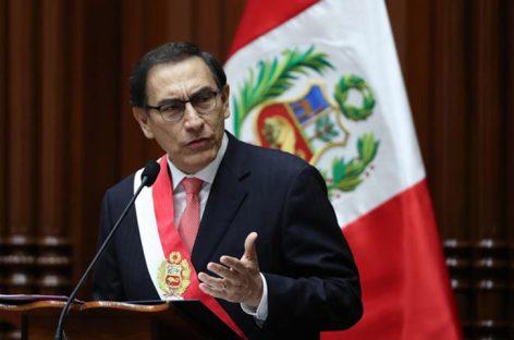 Presidente de Perú presentó al congreso proyectos de reforma política