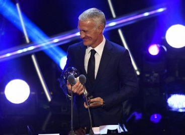 Didier Deschamps también fue galardonado como 'The Best'