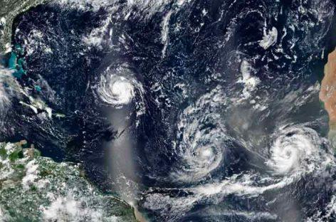 Vientos de Isaac comienzan a llegar a Antillas Menores
