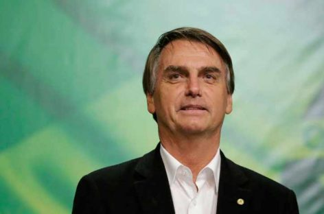 Jair Bolsonaro es electo presidente de Brasil con 55% de los votos