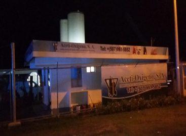 Registran explosión de tanque con CO2 en empresa  de aguadulce en Coclé