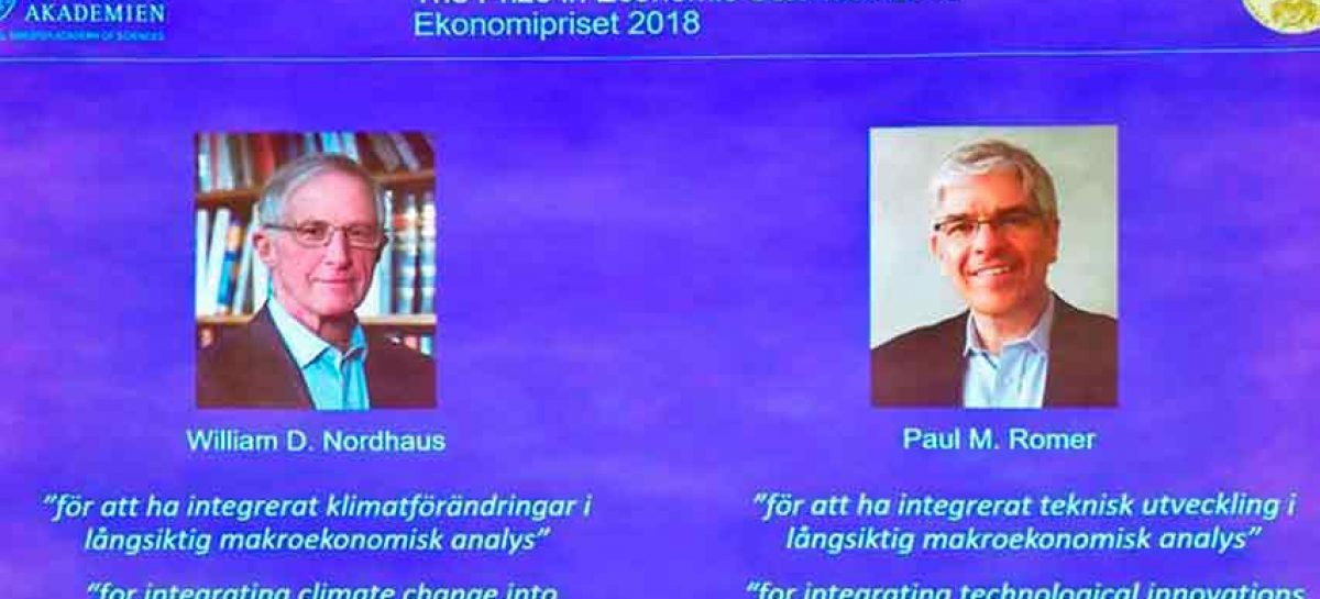 Nordhaus y Romer recibirán el Nobel de Economía