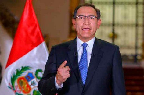Martín Vizcarra convocó referéndum y rechazó bicameralidad del Congreso