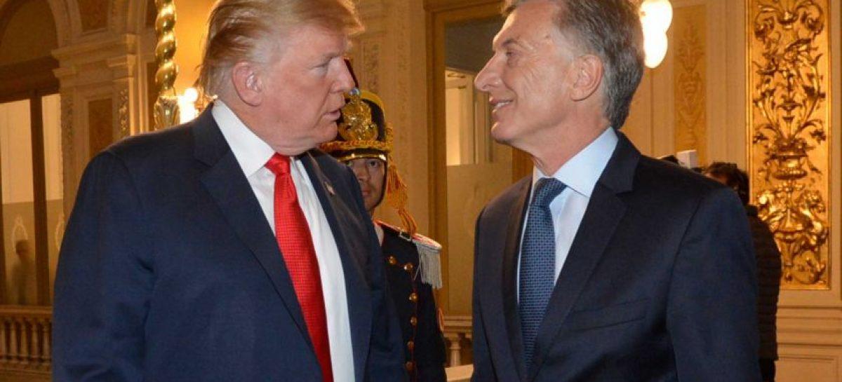 Macri le agradeció a Trump «el apoyo a la Argentina en tiempos difíciles»