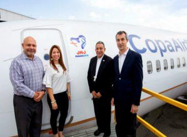 Copa Airlines develó avión que portará logo de la JMJ