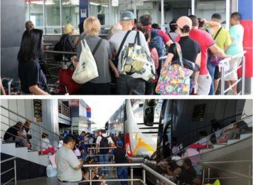 Unos 2.000 costarricenses entraron al país por Paso Canoas para tour de fin de año
