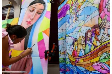 Preparan un mural contra la xenofobia para la misa del Papa Francisco