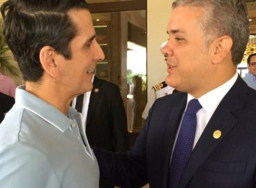 Rómulo Roux conversó con el presidente colombiano Iván Duque