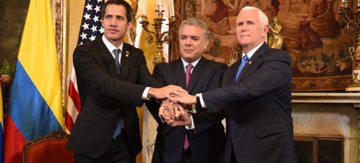 Juan Guaidó, Iván Duque y Mike Pence se reunieron en Bogotá