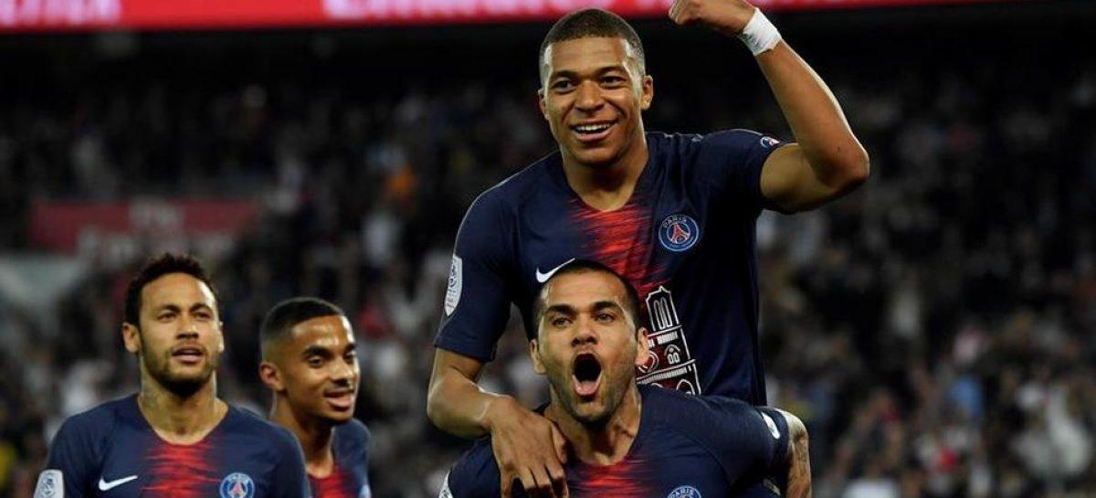 PSG celebró el título derrotando al Mónaco con triplete de Mbappe