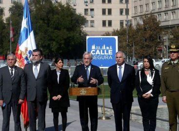 """Piñera lanzó en Chile programa """"calle segura"""" para combatir la delincuencia"""