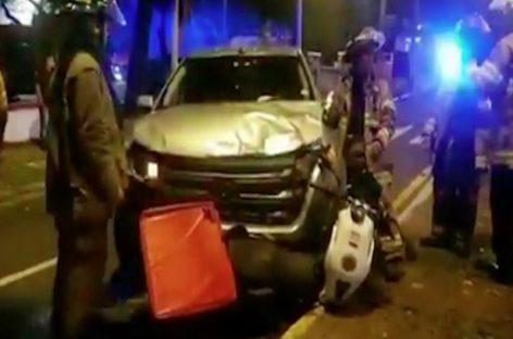 Murió un motorizado venezolano tras chocar contra vehículo  en la avenida Federico Boyd