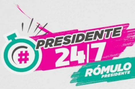 Arranca el cierre de campaña digital de Rómulo Roux: #Presidente247 (+Acá puedes seguirlo EN VIVO)