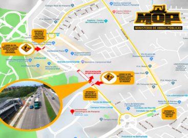 Cerrarán la Vía Centenario el 1 y 2 de junio por instalación de pasarela