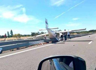 Avioneta choca con 2 vehículos al aterrizar en autopista de Portugal