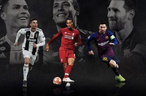Messi, Cristiano y Van Dijk, nominados al Premio Jugador del Año UEFA