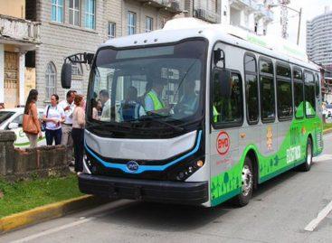 El percance que sufrió un autobús eléctrico en Casco Viejo
