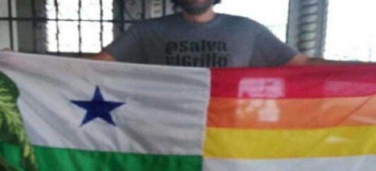 Imponen una multa de $.1000 al hombre que modificó la bandera de Panamá con los colores LGTBI