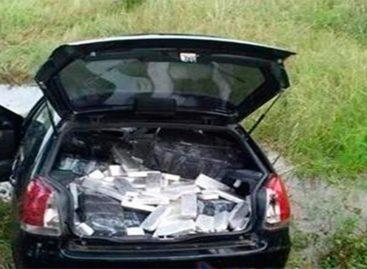 Incautaron casi 500 paquetes de droga dentro de un auto en Miraflores