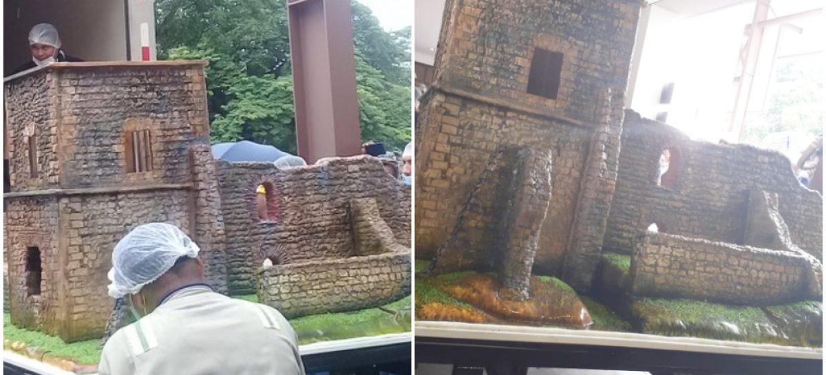 El pastel réplica de Panamá Viejo con el que se celebraron los 500 años de fundación (+Video)