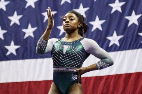 El triple doble salto con el que Simone Biles hizo historia en la gimnasia (+Videos)