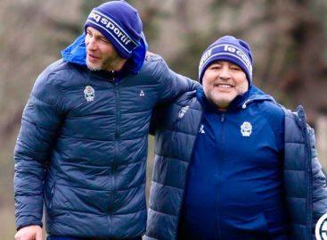 Maradona dirigió su primer entrenamiento con Gimnasia y Esgrima La Plata