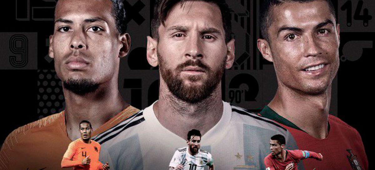 Cristiano, Messi y Van Dijk, finalistas al premio FIFA «The Best»