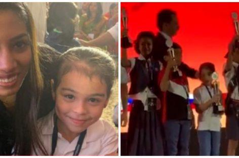 La niña panameña de 7 años que brilló en competencia internacional de cálculo mental (+Video)