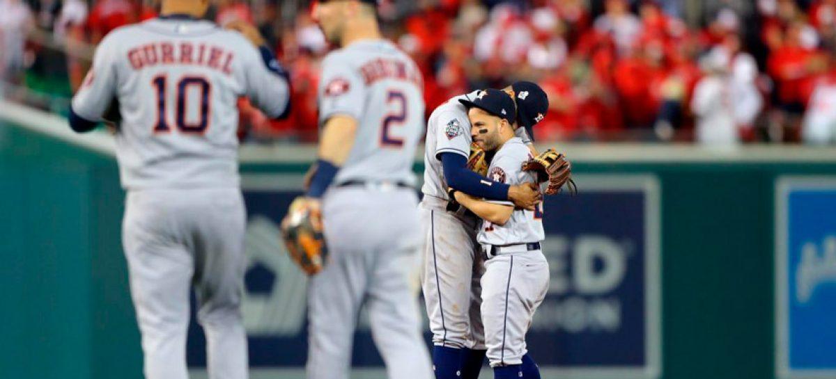 Astros a un triunfo del título de la Serie Mundial