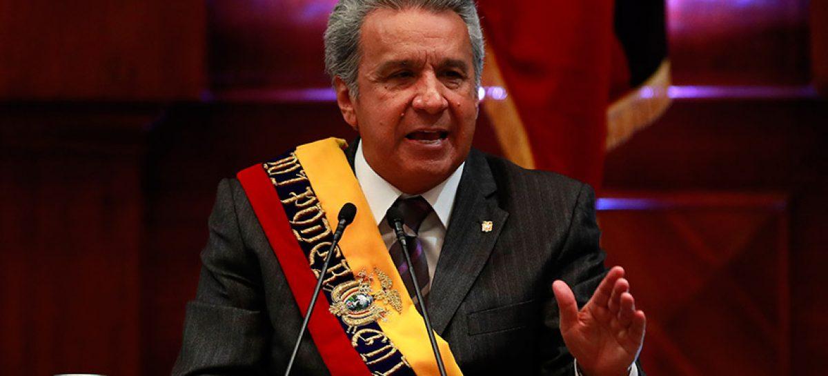 Moreno acusa a Correa y Maduro de desestabilizar su gobierno