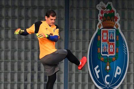 Iker Casillas volvió a entrenar con el Oporto