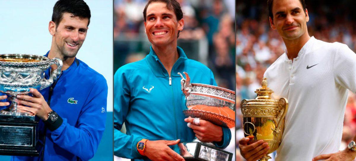 Nadal, Djokovic y Federer culminaron en el «Top 3» del ranking ATP