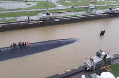Aclaran que video de submarino de EEUU cruzando el Canal de Panamá es de 2017
