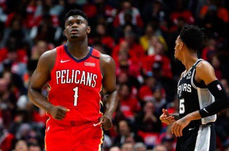 Zion Williamson debutó con derrota ante los Spurs