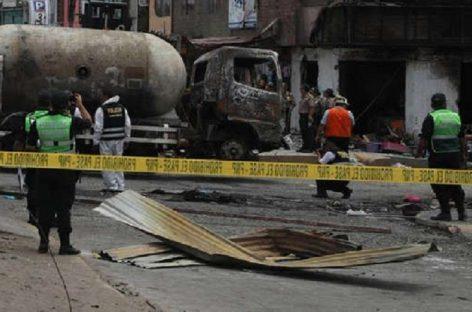 Se eleva a siete la cifra de muertos tras explosión en Lima