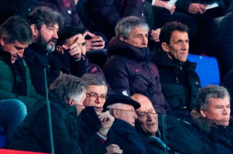 Setién se hizo presente en estadio Joahn Cruyff de Barcelona