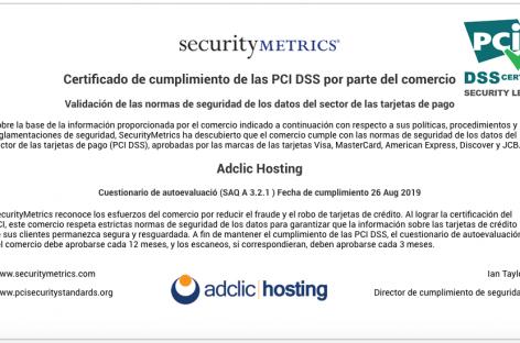 Adclic Hosting adquiere certificación PCI con lo que garantiza el manejo seguro y responsable de datos de tarjetahabientes