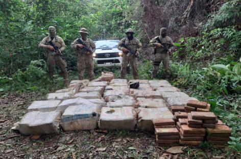 Incautaron 776 paquetes de presunta droga en Colón