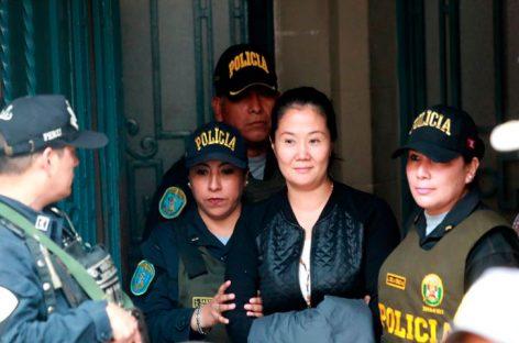 Conceden en Perú recurso de apelación a prisión preventiva de Keiko Fujimori