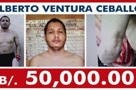 Sube a 50 mil dólares la recompensa a quien ayude con información para recapturar a Ventura Ceballos