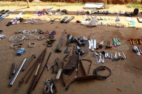 Hallaron celulares, drogas y objetos punzocortantes en La Joyita