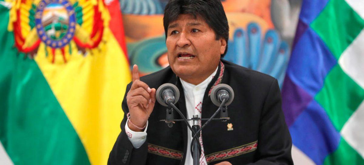 Evo Morales pide acompañamiento internacional en elecciones